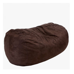 Best Selling Home Decor - Larson Brown Faux Suede 8 Foot Lounger Bean Bag - The comfort of these soft, cushioned beanbags are only matched by our Eco-friendly recycled foam and poly �bean� filled interior. A full-sized adult or a child can flop down and relax on these faux suede microfiber beanbags while still being elevated above the floor. Made in the USA, the seams are double-stitched preventing any leaks. Materials: Microfiber synthetic suede, polystyrene beans, foam; Fill: EPS polystyrene beans and recycled CFR foam-certified fill for comfort; Closure: Double zipper is added for durability and then sealed shut for safety; Cover: Cover is double-stitched along all seams and is removable; also includes hidden stitching and seams; Puncture proof; Care Instructions: Spot Clean; Made in the US; Trademarked; Adult and Kid friendly.