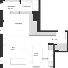 Modern Floor Plan by Studio Garneau