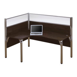 Bestar - Bestar Pro-Biz Single Left L-shaped Workstation in Chocolate - Bestar - Computer Desks - 100854B69 - Smart design proven durability harmoniously combined with easy assembly in the Pro-Biz collection.