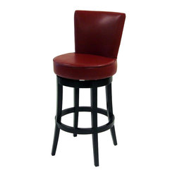 Armen Living - Armen Living Boston 30 Inch Red Bicast Leather Swivel Barstool - Armen Living - Bar Stools - LC4044BARE30 - The incomparably chic look of the Boston Swivel Barstool in red bicast leather is sure to elevate the design element in your home. Nailhead accents on the outside back add virulent value to sophisticated style.