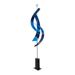 Handcrafted by Jon Allen - Large Modern Blue Maritime Sculpture - Indoor-Outdoor Metal Art - Blue maritime massive by Jon Allen | Extra large abstract modern, contemporary. Handcrafted blue indoor-outdoor sculpture