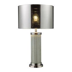 Dimond Lighting - Mont Alto 1-Light Table Lamp in Chrome and Mirror - Dimond Lighting D1596 Mont Alto 1-Light Table Lamp in Chrome and Mirror