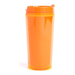 Orange Travel Mug - Even if your coffee is iced, it's going to look hot.
