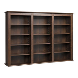 None - Everett Espresso Wall -hanging Media Storage Cabinet - This wall-hanging Espresso Everett media storage cabinet is a beautiful mix of practical storage and home decor fashion. This storage shelf is designed to manage a large collection of CDs or DVDs with style.