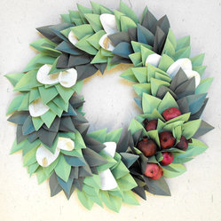 Holiday Christmas Paper Wreath by Moonflower Nature Art