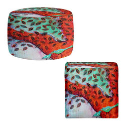 DiaNoche Designs - Ottoman Foot Stool by Kim Ellery - Eternal Love - Lightweight, artistic, bean bag style Ottomans. You now have a unique place to rest your legs or tush after a long day, on this firm, artistic furtniture!  Artist print on all sides. Dye Sublimation printing adheres the ink to the material for long life and durability.  Machine Washable on cold.  Product may vary slightly from image.