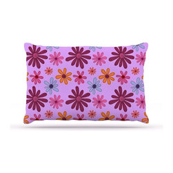 """Kess InHouse - Jane Smith """"Woodland Floral"""" Purple Flowers Fleece Dog Bed (30"""" x 40"""") - Pets deserve to be as comfortable as their humans! These dog beds not only give your pet the utmost comfort with their fleece cozy top but they match your house and decor! Kess Inhouse gives your pet some style by adding vivaciously artistic work onto their favorite place to lay, their bed! What's the best part? These are totally machine washable, just unzip the cover and throw it in the washing machine!"""