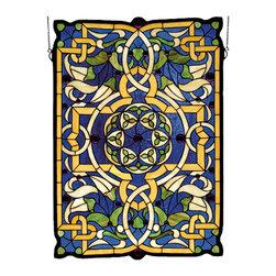 """Meyda Lighting - Meyda Lighting 71030 20""""W x 28""""H Gaelic Tapestry Stained Glass Window - Meyda Lighting 71030 20""""W x 28""""H Gaelic Tapestry Stained Glass Window"""