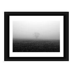 Linda McManus - Tree in Fog, 20x30, Framed - Photos are meant to last a lifetime, so we design our products to do the same. Each image is carefully set by hand inside professional-quality matting, wrapped perfectly into its wooden frame and finished with a thick plate of real glass. One inch solid wood frame, professional matting, shatter proof acrylic, and Kodak archival photo paper combine to create a clean, classic look.