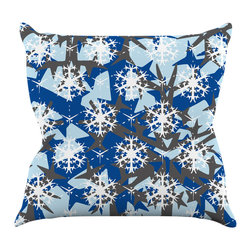 "Kess InHouse - Miranda Mol ""Ice Topography"" Throw Pillow (20"" x 20"") - Rest among the art you love. Transform your hang out room into a hip gallery, that's also comfortable. With this pillow you can create an environment that reflects your unique style. It's amazing what a throw pillow can do to complete a room. (Kess InHouse is not responsible for pillow fighting that may occur as the result of creative stimulation)."