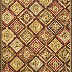 Loloi - Loloi Halton Dark Brown-Rust Area Rug - The colors are vivid and the transitional designs are appealing but what really stands out in Halton is the details.