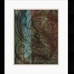Amanti Art - Dust Devil Framed Print by Mick Gronek - Through blending the delicacy of calligraphy with an abstract backdrop of dark hues, an exotic urban harmony of line and color is created.