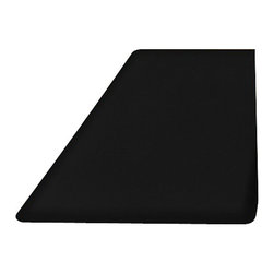 WellnessMats - WellnessMats Black - 6' x 3' - WellnessMats Black - 6' x 3' - 63WMRBLK    The 6 x 3 mat is perfect for any space where you want to really spread out - and continue to stand and work in comfort. Perfect for kitchens, workrooms, larger bathrooms, exercise rooms or laundry rooms, its slightly larger size allows you greater lateral movement while always delivering maximum comfort underfoot.