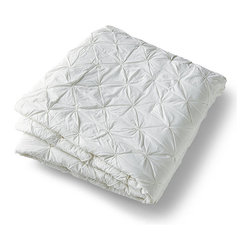 "Frontgate - Whitney Cotton Pintuck Quilt - 100% cotton voile construction. Garment washing bestows an exquisite hand-feel. Pintucked design on top side; reverses to plain. Machine and hand quilted. 150 gram poly batting. Whispery cotton voile stitched with a decorative pintuck results in bedding that is both tailored and demure. Lightweight and versatile, our Whitney Pintuck Bedding adds texture that looks as gorgeous on top of the bed as it does peaking from beneath a duvet. . . . .  . Sham has a 5"" envelope closure . Machine wash, gentle cycle. In White, Ivory, Sterling and Cascade . Imported."