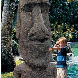 Garden decor - Easter Island Ahu Akivi Moai Monolith Statue