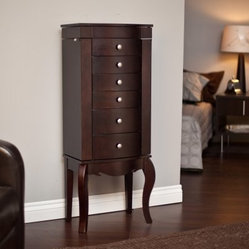 Waterford Jewelry Armoire - Merlot