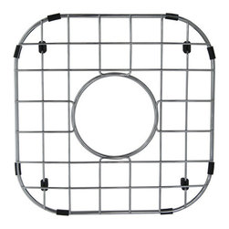 Kingston Brass - Stainless Steel Grid for GKUS16168 - To prevent damage from your sink, this stainless steel grid from Kingston Brass safeguards any harm caused from overflowing kitchen appliances (pots and pans). The grid consists of horizontal and vertical bars and slots to allow dishes and bowls to be placed rather than the surface of the sink where scratches can form. A circular gap is also designed on the platform to allow easy access to the drain before washing your kitchen appliances.