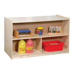 Steffywood - Steffywood Home Indoor School Classroom Double Sided Storage Section - Unit has 4 storage compartments on each side and is constructed of 11-ply all birch veneer panels.  Twin wheel casters for easy and smooth rolling