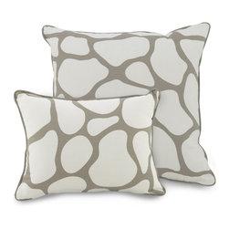 Oilo - Cobblestone Throw Pillow in Taupe - Cobblestone Throw Pillow in Taupe