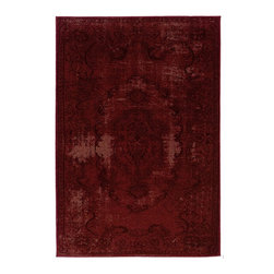 "Oriental Weavers - Transitional Revival Hallway Runner 1'10""x7'6"" Runner Red-Black Area Rug - The Revival area rug Collection offers an affordable assortment of Transitional stylings. Revival features a blend of natural Red-Black color. Machine Made of Polypropylene the Revival Collection is an intriguing compliment to any decor."