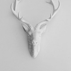 The Eloise White Resin Deer Sculpture Head - I love this beautiful boy! The crisp white feels like winter without making me think of Christmas.