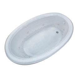 Arista - Belle 44 x 78 Oval Air & Whirlpool Drop-In Bathtub w/ Center Drain - Left Pump - DESCRIPTION