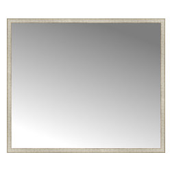 """Posters 2 Prints, LLC - 71"""" x 60"""" Libretto Antique Silver Custom Framed Mirror - 71"""" x 60"""" Custom Framed Mirror made by Posters 2 Prints. Standard glass with unrivaled selection of crafted mirror frames.  Protected with category II safety backing to keep glass fragments together should the mirror be accidentally broken.  Safe arrival guaranteed.  Made in the United States of America"""