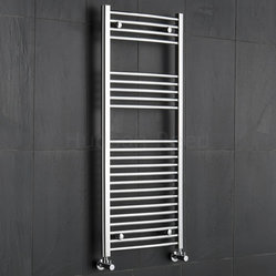 Hudson Reed Chrome Curved Heated Towel Radiator Rail 47.25 x 19.75
