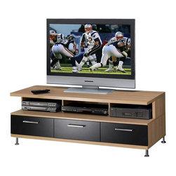 Nexera - Nexera Eclipse 56-Inch TV Stand - Eclipse 56-inches TV Stand from Nexera features 3 ...
