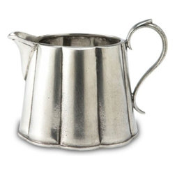 Match Pewter - Britannia Creamer by Match Pewter - Using methods that predate the Renaissance, Match artisans fashion pewter into functional objects of warmth and beauty. Serve your coffee or tea in style with this charming collection from Match pewter.