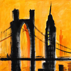 Murals Your Way - City Scape-Amber Wall Art - Painted by Paul Brent, the City Scape-Amber wall mural from Murals Your Way will add a distinctive touch to any room