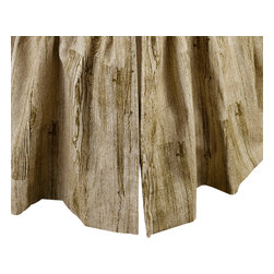 """Mystic Valley - Mystic Valley Traders Montana - Cal King Bed Skirt - The Montana bed skirt is fashioned from the Timber fabric; it is lined and gathered with a 16"""" drop."""