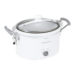 HAM.BEACH/PROCTOR SILEX - 4-Quart Stay or Go Slow Cooker - Features: