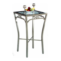 "Tempo Industries - New Rochelle Bar Table w Glass (Standard Fini - Finish: Standard Finish - CappuccinoThe stunning New Rochelle Bar Table with Glass features a fitted 24"" square glass top.  This attractive and versatile table comes in your choice of 36"" Counter or 40"" Bar heights and offers a variety of metal finishes to choose from.  You can never have enough surface space.  Display your most decorative items on this glass-topped pub table.  The living room, hallways, and foyers are perfect places, but this table can be placed virtually anywhere and continue to maintain its magnificence. * Designed for in home or commercial use. Some assembly may be required. 24 in. Square Glass Top"