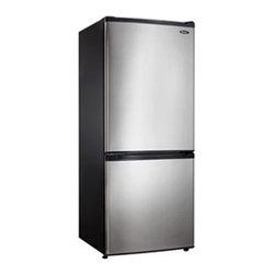 Danby - Danby 9.2 Cu Ft Black & Platinum Bottom Freezer Refrigerator - Features:
