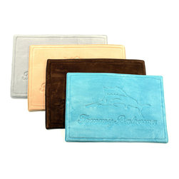 Tommy Bahama - Tommy Bahama Marlin Memory Foam 20 x 30 Bath Rug - Complete any bathroom decor with the Tommy Bahama Marlin memory bath rug. Featuring a rubber backing,this machine washable bath rug is available in four colors.