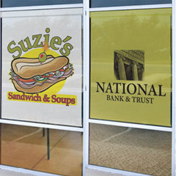 Blindsgalore - Custom Printed Roller Shades | Blindsgalore - Put your logo, signage or decorative imagery on a roller shade - perfect for businesses, storefronts, restaurants and more!