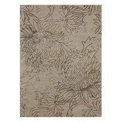"""Loloi Rugs - Loloi Rugs Kenton Collection - Beige, 3'-6"""" x 5'-6"""" - With an exceptionally comfortable feel and several handsome designs, the Kenton Collection has just the right look and feel to give your home the style upgrade it needs. Hand tufted in India, the soft wool pile is complemented by viscose accents fora slight shimmering effect on the surface of these transitional designs."""