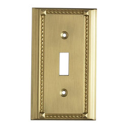 "Elk Lighting - EL-2501BR Clickplates Brass Single Switch Plate Lighting Accessory - Decorative outlet covers customizable to your receptacle configuration. ""we've got you covered"" with the most popular models and finishes. Quality cast metal construction will add a finishing touch to your decor. Clickplates will look great in every room in your home."