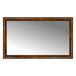 "Posters 2 Prints, LLC - 42"" x 25"" Belmont Light Brown Custom Framed Mirror - 42"" x 25"" Custom Framed Mirror made by Posters 2 Prints. Standard glass with unrivaled selection of crafted mirror frames.  Protected with category II safety backing to keep glass fragments together should the mirror be accidentally broken.  Safe arrival guaranteed.  Made in the United States of America"