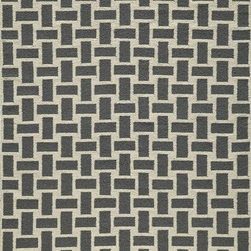 "Laguna LG-02 Grey Rug - 3'6""x5'6"" - Geometric patterns, vibrant colors and chic simplicity all collaborate to make the flat-weave Dhurry collection, Laguna. Made in India of 100% wool, Laguna utilizes a vibrant color palette that plays off geometric patterns often found in paving stones, basket weaves and nature."