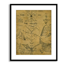 Gallery Direct - St. John's 'Learning to Fly' Framed Paper Art, 17x20 - Striking, contemporary artwork is framed and matted.
