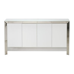 "Creative Furniture - ""Creative Furniture"" Vanda White Lacquer Buffet - Features:"