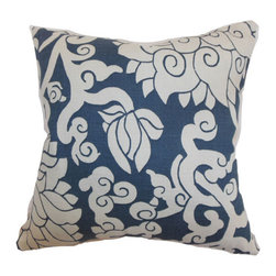 The Pillow Collection - Erdenet Floral Pillow Smoke - - Comes standard at 18 x 18  - Reversible pillow with same fabric on both sides  - Includes a hidden zipper for easy cover removal and cleaning  - Comes standard with a down pillow insert  - All four sides have a clean knife-edge finish  - Pillow insert is 19 x 19 to ensure a tight and generous fit  - Cover and insert made in the USA  - Spot cleaning recommended  - Fill Material: Down  - Pillow cover made of Cotton The Pillow Collection - P18-D-20877-SMOKE-C95L5