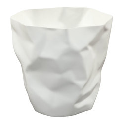 Modway Furniture - Modway Lava Trash Bin in White - Trash Bin in White belongs to Lava Collection by Modway Lava was designed for those who appreciate the irony of a trash can, that is effectively throwing itself in the trash. While there��_��_��_��_��_��_s likely some quantum physics behind this, we prefer to think of Lava as a study in self-reference. As you crumple up those pieces of paper, you can be reminded that your receptacle has already beat you to it. More than just a conversation piece, Lava turns the once ordinary task of trash disposal, into something humorous and uplifting. Set Includes: One - Lava Modern Trash Bin Trash Bin (1)