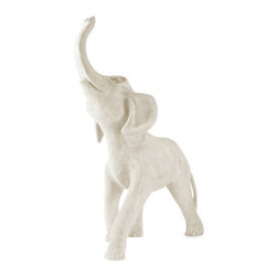 Amedeo Design, LLC - USA - Elephant Statue - Our Elephant Statue is whimsical, playful and adorable. Our mid sized elephant will delight all those who come to her. Our products are made of lightweight weatherproof ResinStone. So authentic, you actually have to lift them to convince yourself they're not stone at all! Made in USA.