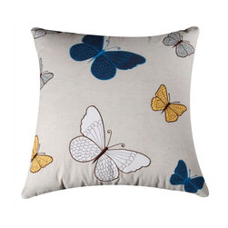 Rizzy Home - Natural and Blue Decorative Accent Pillows (Set of 2) - T03523 - Set of 2 Pillows.