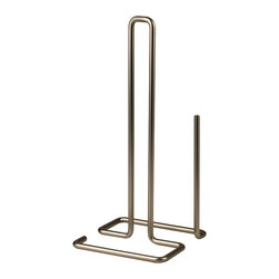 Spectrum Diversified Designs - Dunbar Paper Towel Holder - Satin Nickel - From the Dunbar Collection, this deluxe Paper Towel Holder is built with a wide base to prevent tipping while you tear. Made of sturdy steel with a satin nickel finish.