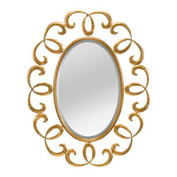 Kichler Lighting - Kichler Lighting 78213 Marlowe Transitional Mirror - Featuring a romantic silhouette, this feminine, curved mirror showcases traditional detailing and an Antique Gold Metal frame that will effortlessly enhance your home.