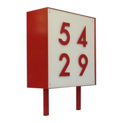 Square Metal Address Sign